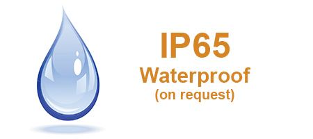 IP65 Waterproof - available on request