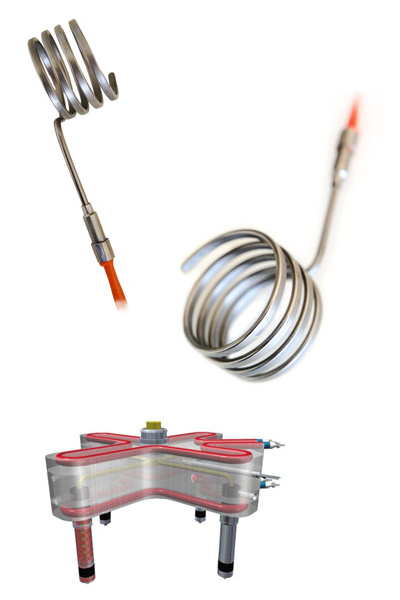 Coil Heater Elements with Thermocouples